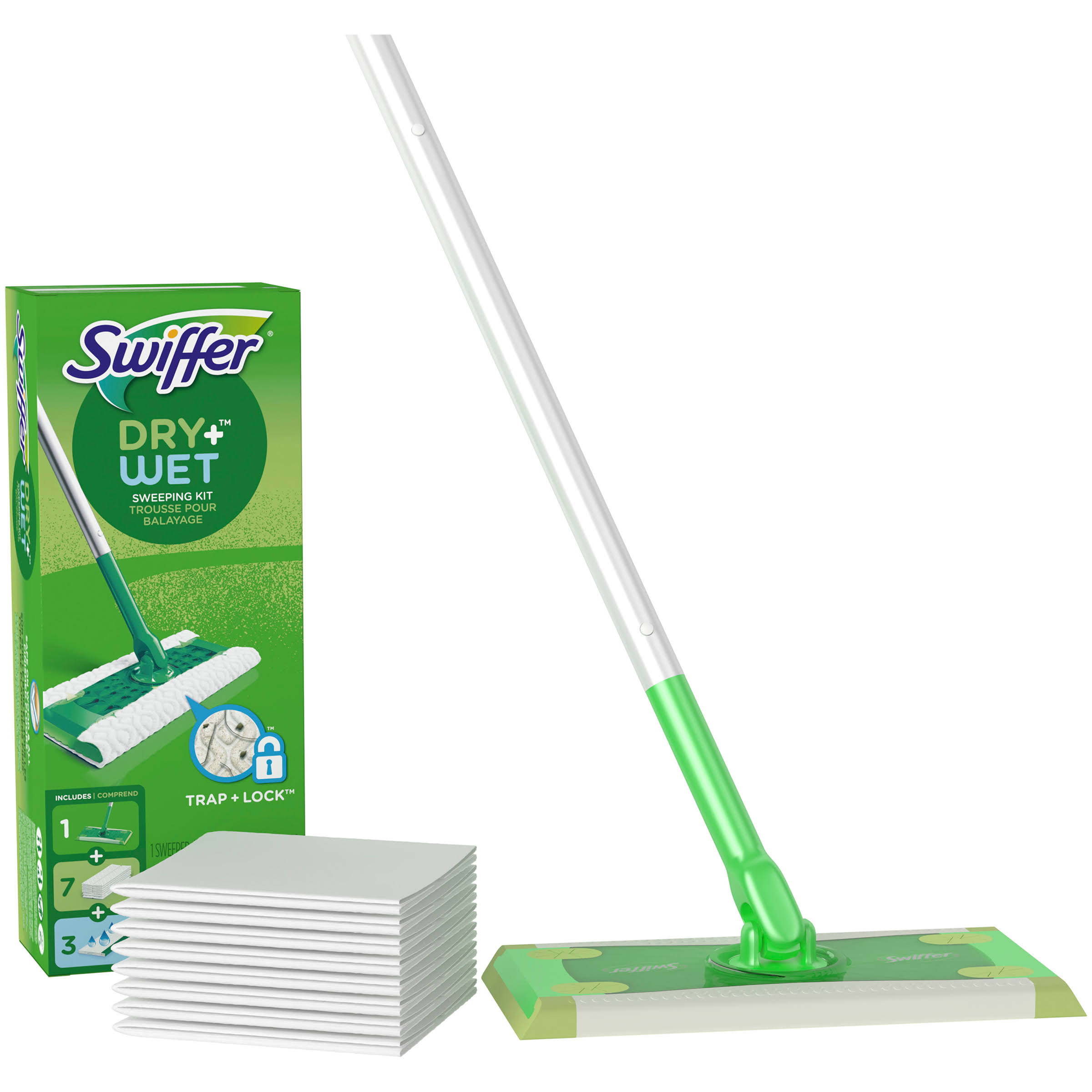 Swiffer Sweeper Dry Wet Cleaner Starter Kit - 11ct