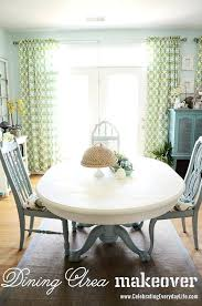 Dining Room Table Chair And Chairs Makeover With Chalk Paint Old White