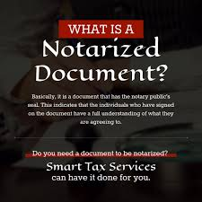 What Is A Notarized Document Notary SmartTaxServices Smart Tax