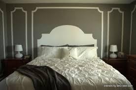Headboard Painted On Wall Diy Home Decor Blogs