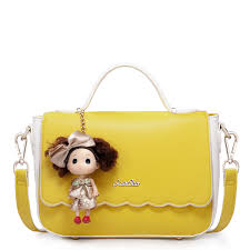 Barbie Girl Early Spring Series Candy Color Handbag Yellow