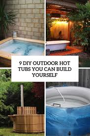 9 DIY Outdoor Hot Tubs You Can Build Yourself - Shelterness Hot Tub Patio Deck Plans Decoration Ideas Sexy Tubs And Spas Backyard Hot Tubs Extraordinary Amazing With Stone Masons Keys Spa Control Panel Home Outdoor Landscaping Images On Outstanding Fabulous For Decor Arrangement With Tub Patio Design Ideas Regard To Present Household Superb Part 7 Saunas Best Pinterest Diy Hottub Wood Pergola Wonderful Garden