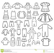 Boys Clothes Clipart Black And White