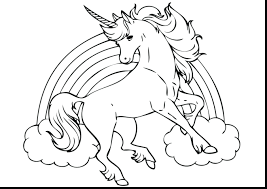 Unicorn Coloring Pages Printable Free Cute Pony Princess Page