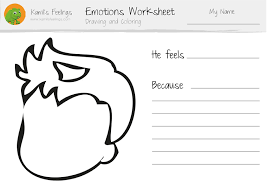 Drawing Coloring Emotions Worksheets Children Teaching