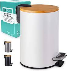 hibath 3 liter kosmetikeimer mit bambusdeckel badezimmer