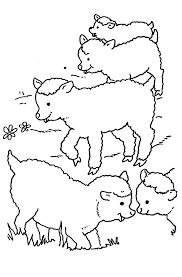 Free Sheep Coloring Pages