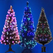 Ebay Christmas Trees 6ft by Black Fibre Optic Christmas Tree Colour Changing 2ft 3ft 4ft 5ft