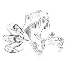 Coloriage Dinosaure Tyrannosaure À Imprimer Et Colorier De Coloriage