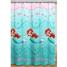 Little Mermaid Bath Decor by Impressive Little Mermaid Curtains And Curtains Ideas Ariel Shower
