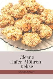 cleane hafer möhren kekse küche mit herz
