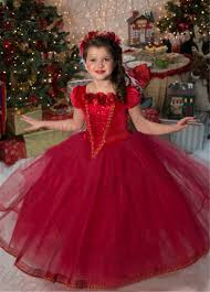 summer new children party costume winter dress palace noble