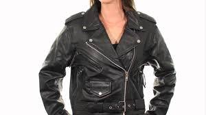 b7800 xelement women u0027s u0027classic u0027 black leather jacket at leatherup