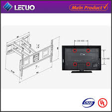 2017 new tv support mural installation sanus support mural pour 55