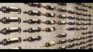 100 Wine Rack Hours Toronto Modern Cellar Featuring Cable System Triangular Glass Design