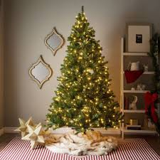 Clear Bulbs For Ceramic Christmas Tree by 7 Foot Pre Lit Artificial Christmas Tree W Clear Or Multicolor