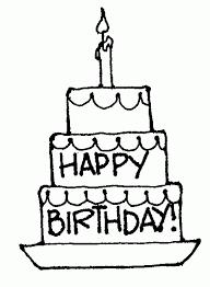 Free Black And White Birthday Clip Art