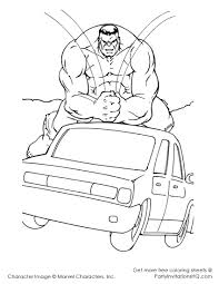 Free Incredible Hulk Coloring Pages Template To Print Large Size