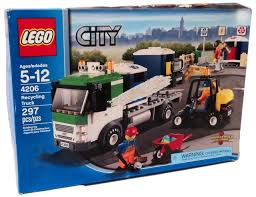 100 Lego Recycling Truck LEGO City Exclusive Set 4206 Damaged Package