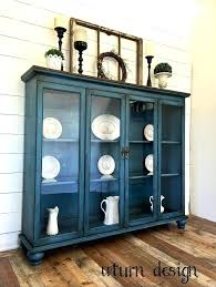 Sold Blue Farmhouse Hutch China Cabinets Corner Best Cabinet Images On Plans Phenomenal Living Room Pine Free Pla