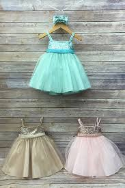 sequin top dress with overlay tulle skirt infant dress
