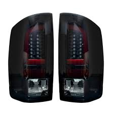 Smoked Lens   After Market OLED Tail Lights   Dodge Ram 07-08 RECON ...