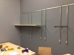 wall shelves design great heavy duty track wall shelving wire