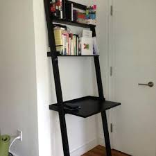 bookcase crate and barrel leaning bookshelf desk sloane espresso