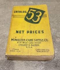 Vintage Mcmaster Carr Supply Co Catalog No 53 Hit Miss Anvil Tools 1946