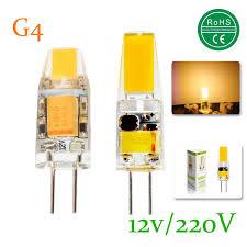 15x mini g4 led l cob led bulb 3w 6w dc ac 12v ac 220v led