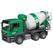 100 Bruder Logging Truck MAN TGS Cement Mixer Construction S