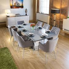 Black Beauty 6 Seater Marble Top Dining Table Set Woodys