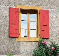 French Inspired House Design Exterior Shutters