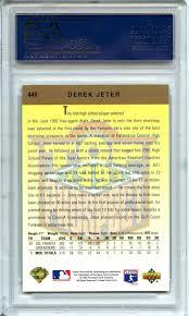 The Upper Deck Company Llc Linkedin by Lot Detail 1993 Upper Deck Gold Hologram 449 Derek Jeter Rc