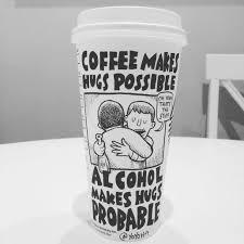 Josh Hara Coffee Cartoonist Cup Art Starbucks Instagram Yoyoha Sprudge