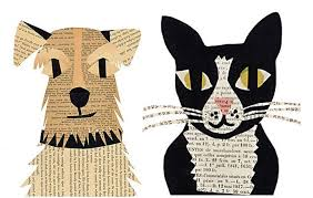 Today I Want To Talk About Simple And Fun Kids Paper Craft Ideas Author Denise Fiedler Makes Very Cute Appliques From Old Newspapers