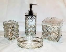 Bella Lux Mirror Rhinestone Bathroom Accessories by Bella Lux Mirror Rhinestone Crystal Liquid Soap Dispenser Bathroom