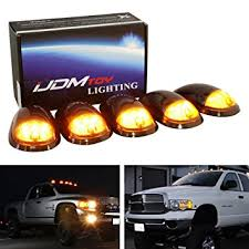 ijdmtoy 5pc smoked lens truck cab roof ls w