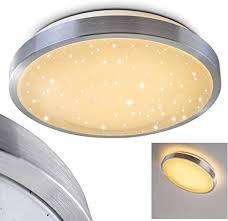 bad le sora aus gebürstetem aluminium warmweißes led licht mit 900 lumen und 12 watt für die decke mit sternendekor badezimmer beleuchtung