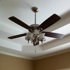 Brushed Nickel Ceiling Fan With Gray Blades by Bedroom Small Ceiling Fan With Light Mini Ceiling Fan 3 Blade