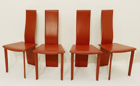 Set Of Four Red Leather Dining Chairs - Dining Room - Items ... Ding Room Chair Leather Design Optic Upholstered Chair Retro Cognac Brown Beige 2er Set Amazing Rooms Chairs Set Cushions Table Michael Anthony Fniture Burnt Orange Oak Nyekoncept Mid Century Eiffel Side Amazoncom Cjc Of 2 Faux Kitchen Chairsbrown Art Deco St030 Transitional Midcentury Modern Dering Hall Mediterrean With Hand Painted Hgtv Christopher Knight Home 298997 Anise Of Green Tea With Casters