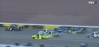 100 Arca Truck Series FIVE WIDE At Las Vegas Last Night During The Truck Race Some Of The