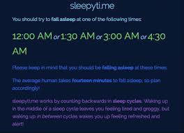 Go To Sleep And Wake Up At The Right Time With Sleepyti