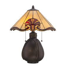 Tiffany Style Lamps Canada by Shop Portfolio 19 38 In Bronze Tiffany Style Indoor Table Lamp