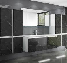 homeline badmöbel set luuic 240 240 cm badmöbel set schwarz weiss marmor optik hochglanz luuci badezimmermöbel bad 6 teilg 8 tlg kaufen