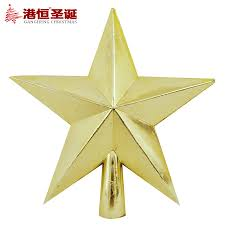 1 Pcs 12cm Golden Stars Treetops Of Christmas Tree Toppers Ornaments Star Xmas Decoration In From Home Garden On Aliexpress