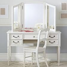 Blythe Desk and Mirror Vanity Hutch