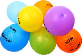 Free Colorful Happy Birthday Balloons PNG Image