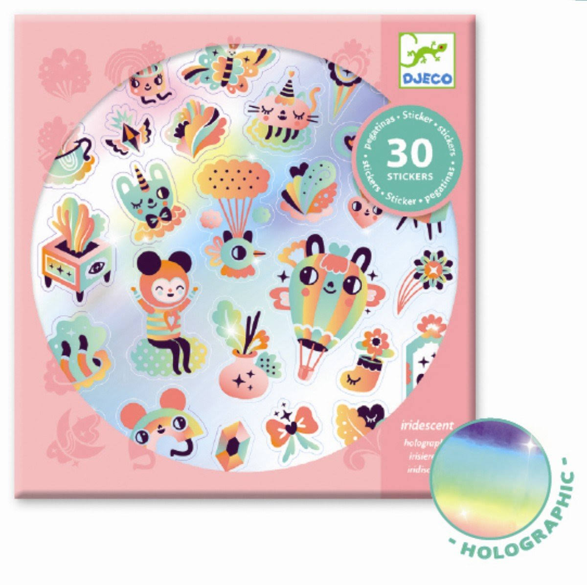Djeco Holographic Stickers - Lovely Rainbow DJ09264