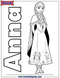 Tremendous Anna From Frozen Coloring Pages Frozen Elsa Anna
